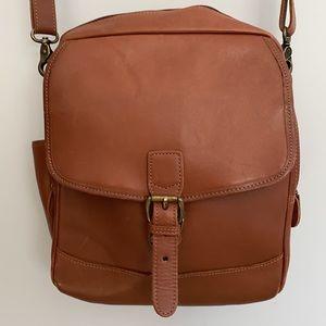 LL Bean Leather Crossbody Bag VGUC